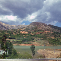 View from the bus while crossing the Taurus mountains.