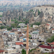 Göreme viewed from an areal balloon