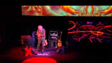 "Premiere performance for solo guitar and oud, ""only sky"": David Torn at TEDxCaltech"