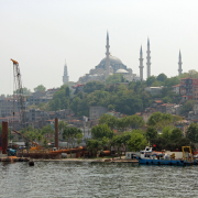 The Old City of Istanbul across the Golden Horn