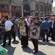 Protest on Istiklal Street in Istanbul