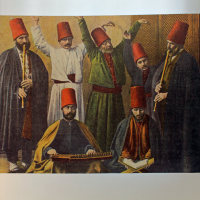 A painting in the Galata Mevlevi Museum (Sufi)