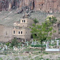 Ancient dwellings and graveyard on the outskirts of Kizilkaya