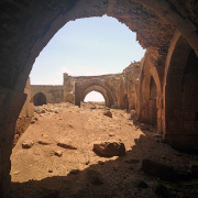 The Han-el Barür Caravanserai bears an inscription declaring that it was erected in 1128-29 by el Hac Hüsameddin ali Bey Imad Bin Isa.