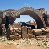 The Han-el Barür Caravanserai bears an inscription declaring that it was erected in 1128-29 by el Hac Hüsameddin ali Bey Imad Bin Isa.