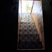 Stairs leading to the cave of the Prophet Eyyub (8th Century).