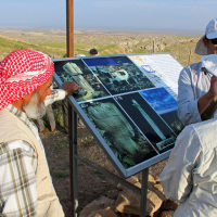 The farmer that discovered Göbekli Tepe on his property (left). He insisted that there be free public access.