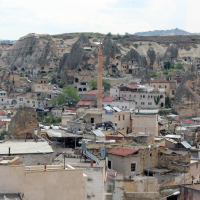 Göreme viewed from the Aydinli Cave Hotel