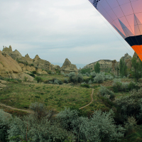 Early morning balloon ride over Göreme and beyond