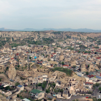 Göreme and surrounding areas viewed from an areal balloon
