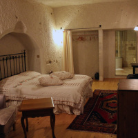 My room at the Aydinli Cave Hotel in Göreme