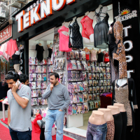 Underwear shop in the Old City of Istanbul