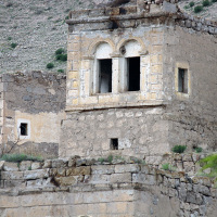 Detail of ancient dwelling on the outskirts of Kizilkaya
