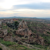 View from the heights of Uchisar