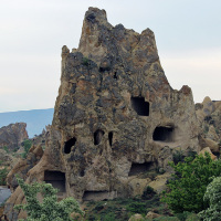 Ancient caves at the Zelve Open Air Museum in Göreme